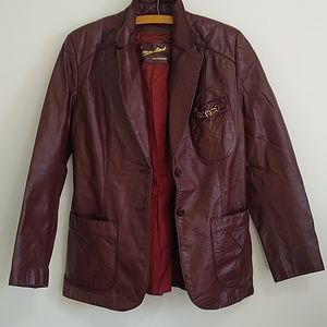 {Vintage} Etienne Aigner leather jacket